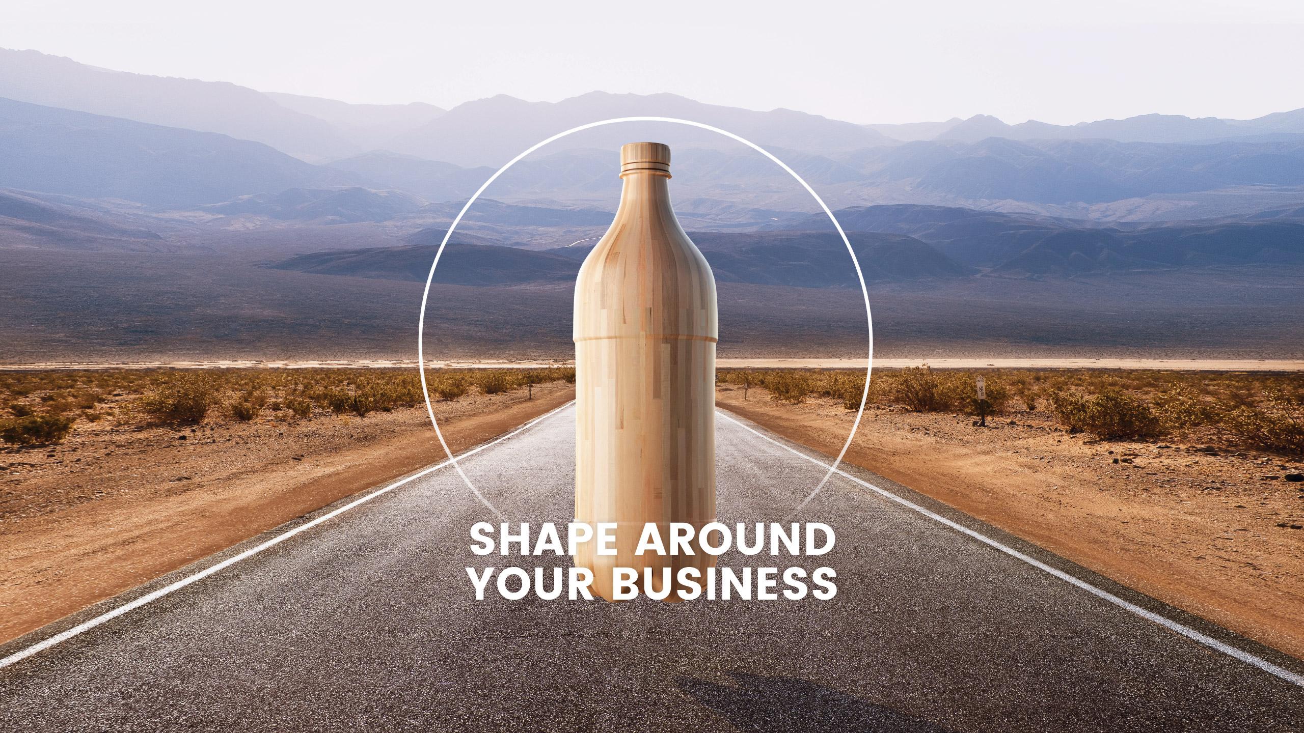 Bouteille de bois shape around your business